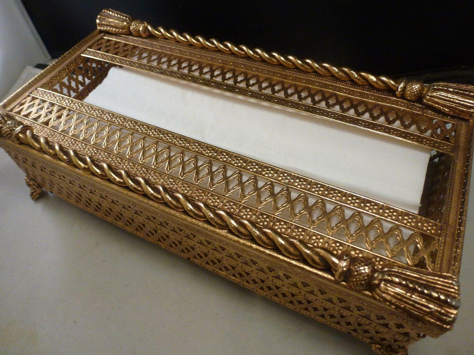 gold twisted rope flat tissue box home