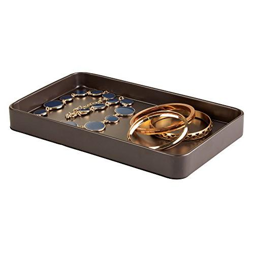 mDesign Decorative Metal Guest Tray Dispenser, for Disposable Paper - Vanity Organization - Matte
