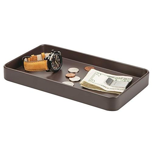 mDesign Decorative Guest Towel Tray for Disposable Paper - Vanity Organization Brown