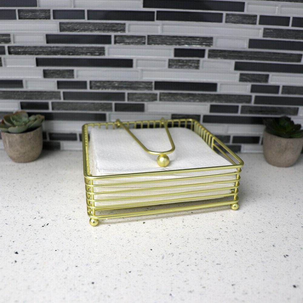 Halo Napkin with Pivoted Gold