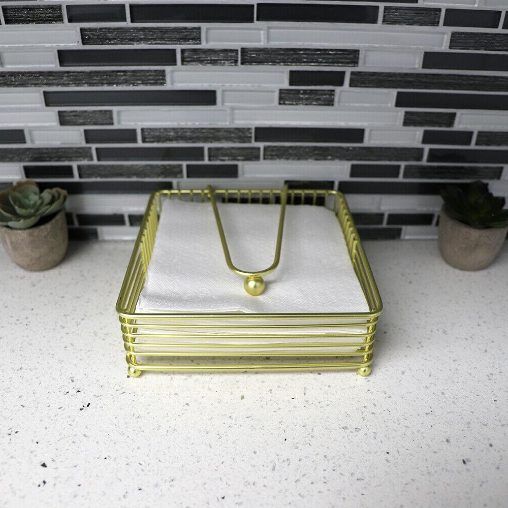 Halo Napkin with Weighted Arm, Gold