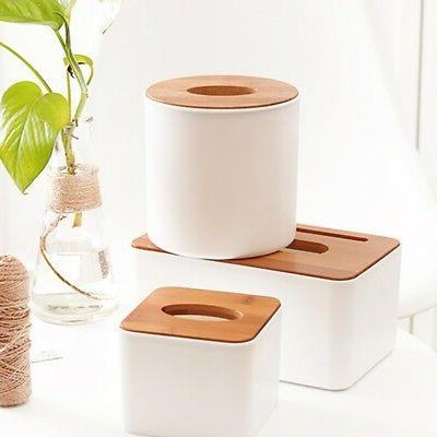 US Wooden Box Dispenser Paper Holder Organizer