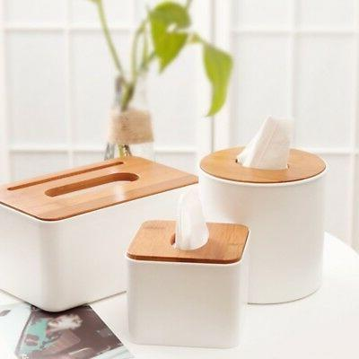 us wooden cover tissue box dispenser paper