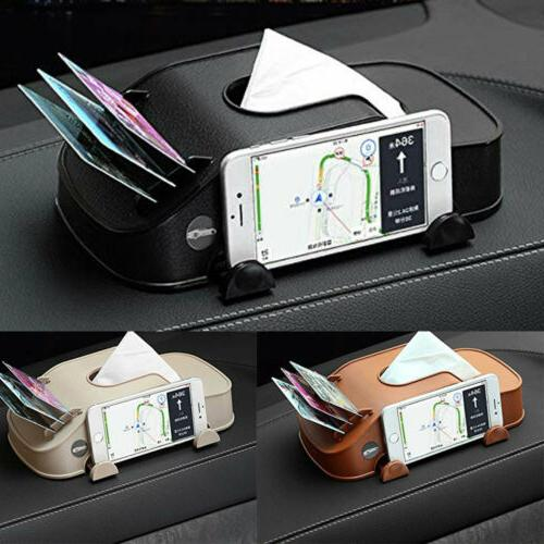 leather car tissue box cover napkin paper