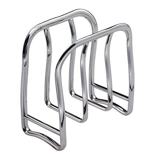mDesign Modern Metal Paper Napkin Holder Kitchen - Indoor & Outdoor Use, Storage Organization for Multiple Sizes - Chrome