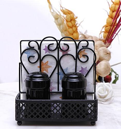 GoCraft Metal Napkin and Caddy Sets Black