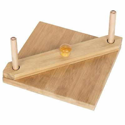 MyGift Square Napkin Holder Center Bar Weighted