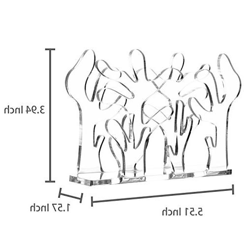 Modern Abstract Tree Design Clear Napkin -