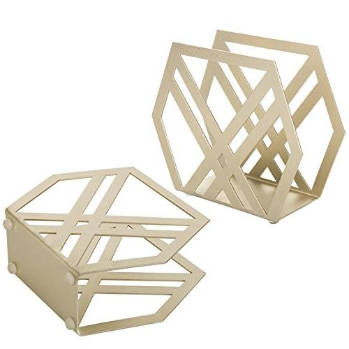 MyGift Modern Metal Holder, of 2