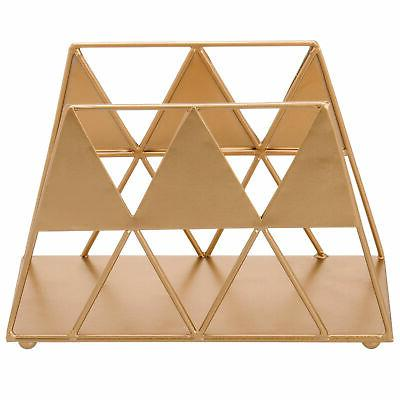 MyGift Gold-Tone Triangle Napkin Holder