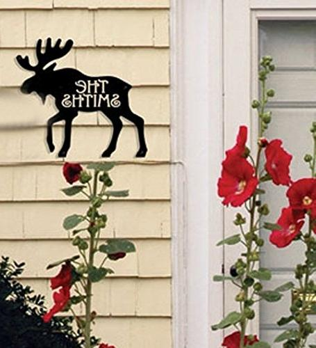 Village Wrought Iron NA-HP-19 Moose House Plaque