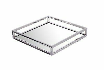 napkin holder small square mirrored flat stainless