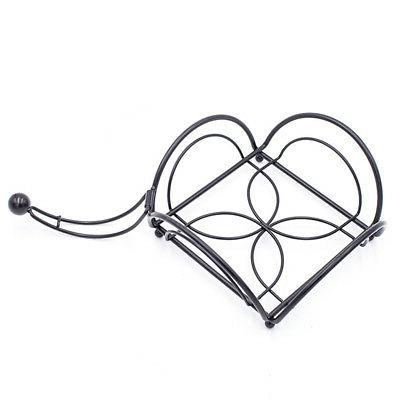 Napkin Serviette Black Metal Home Dining Rack