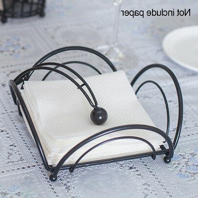 Napkin Serviette Black Dining Tray