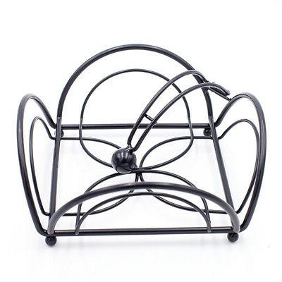 Napkin Black Metal Dining Tray Rack