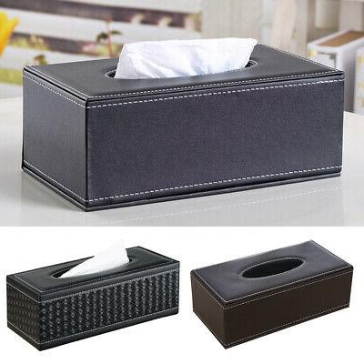 new faux leather tissue box cover napkin