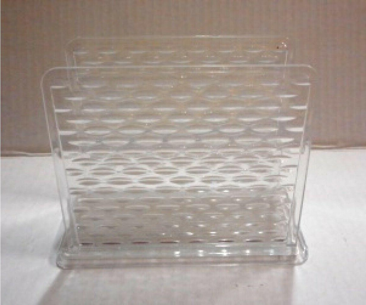 new retro clear plastic acrylic napkin holder