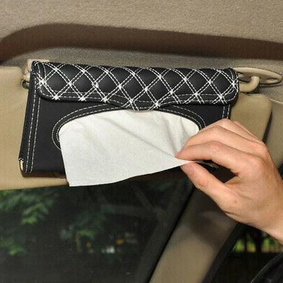 us pu car sun visor leather hanging