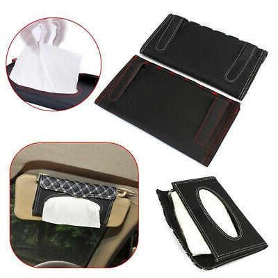 US PU Car Visor Tissue Box Napkin Paper
