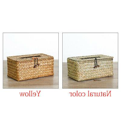 Paper Towel Holder Desktop Home Decor Tissue Box Woven