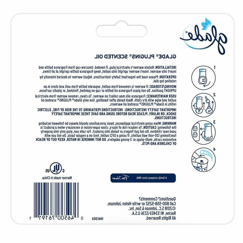 Glade Plugins Oil Air Freshener, Electric 2.0 Count