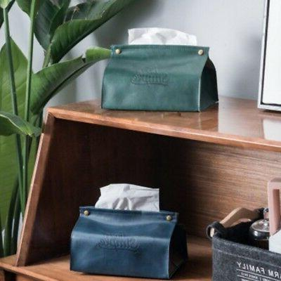 PU Case Cover Napkin Paper Holder for Home Office