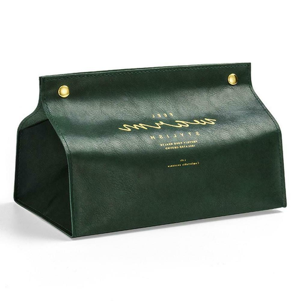 PU Leather Tissue Cover Case Organiser