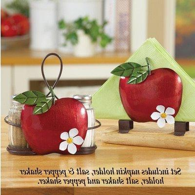 red apple country kitchen accent