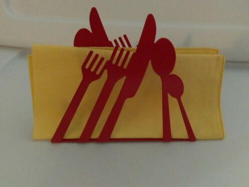 RETRO Steel Paper Cutlery Cutout Dining