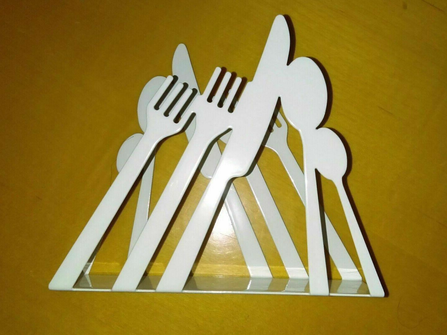 retro napkin holder stainless steel paper cutlery