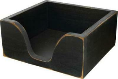 rustic country distressed black wood napkin holder