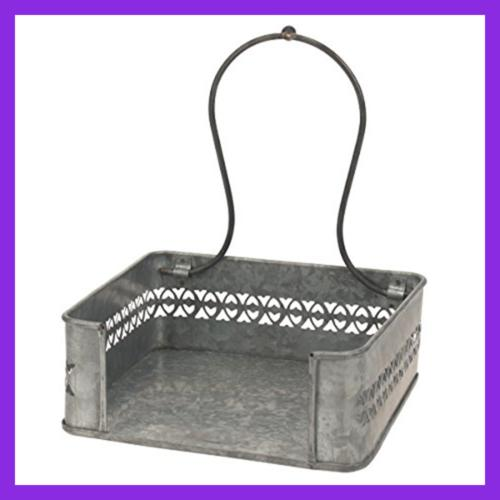 Rustic SILVER Table Holder Decorative