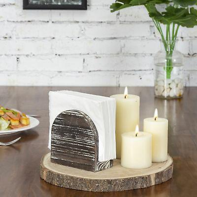 MyGift Wood Round Edge Holder