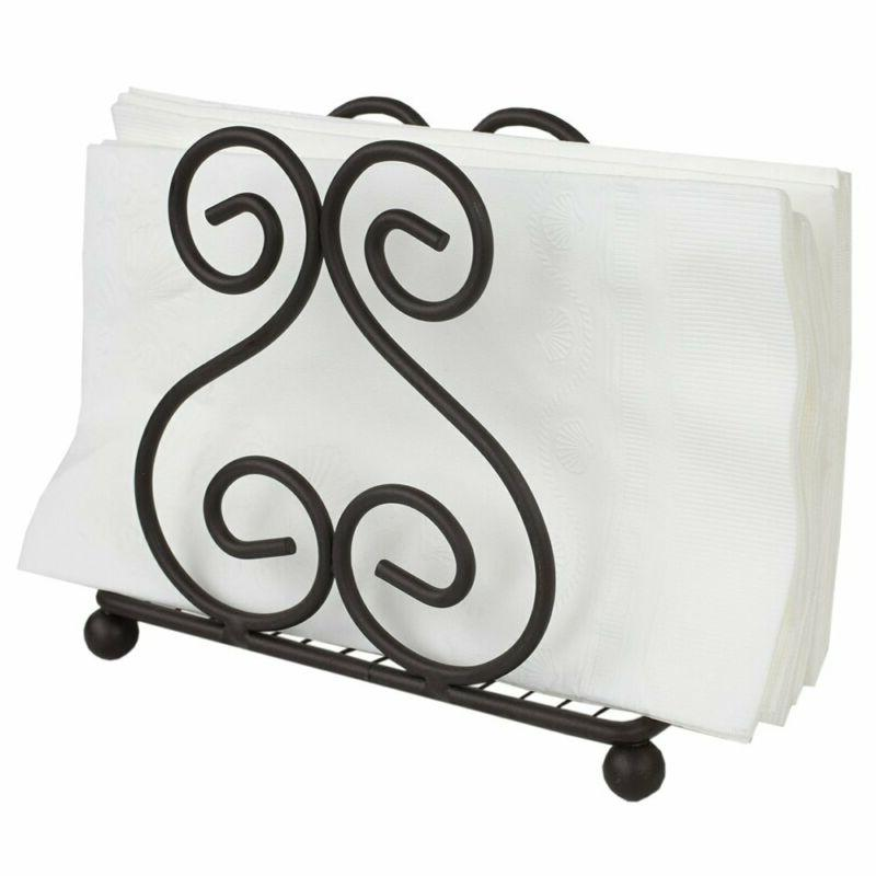 scroll collection steel napkin holder freestanding tissue