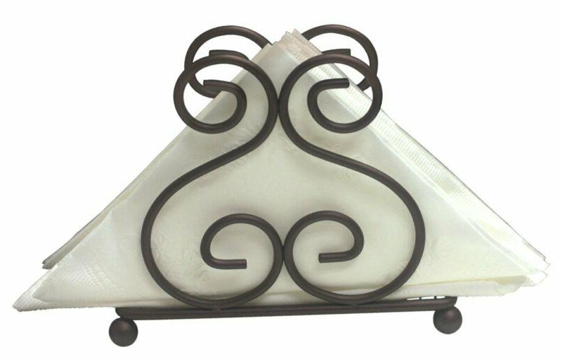 Home Basics Scroll Collection Steel Holder Tissue