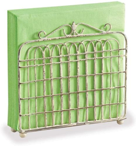 Shabby Chic Garden Gate Metal Lunch Napkin Holder  by Park D