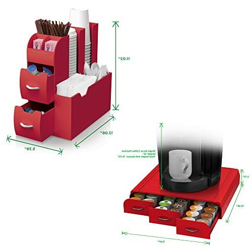 Mind Single Serve Drawer and Condiment Station, Red