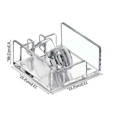 Square Clear Cocktail Napkin Holder Paper Dispenser