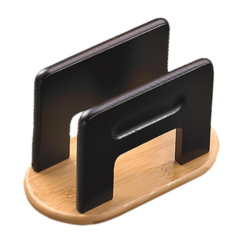 Stained Natural Bamboo Espresso Napkin Holder Tabletop Tissu