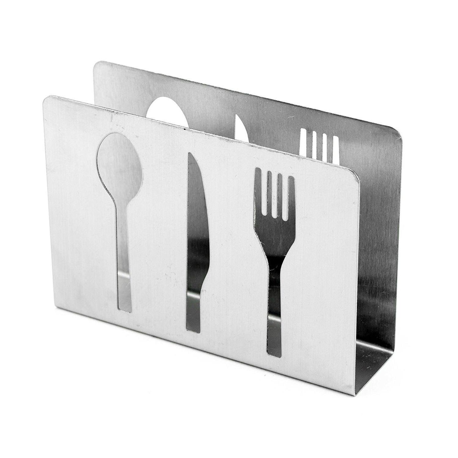 Stainless Paper Holder Cutlery Cutout Table