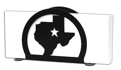 SWEN Products STATE of TEXAS STAR Black Metal Letter Napkin