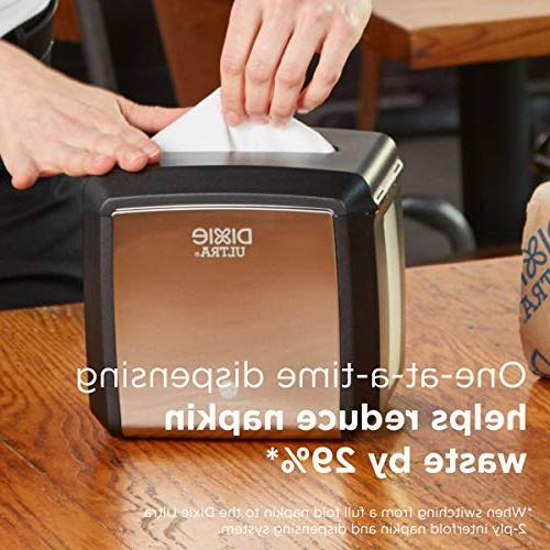 """Dixie Ultra Tabletop Interfold Napkin Dispenser by PRO , Holds W x 6.100"""" x H"""