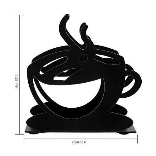 Tabletop Cup Silhouette Upright Black