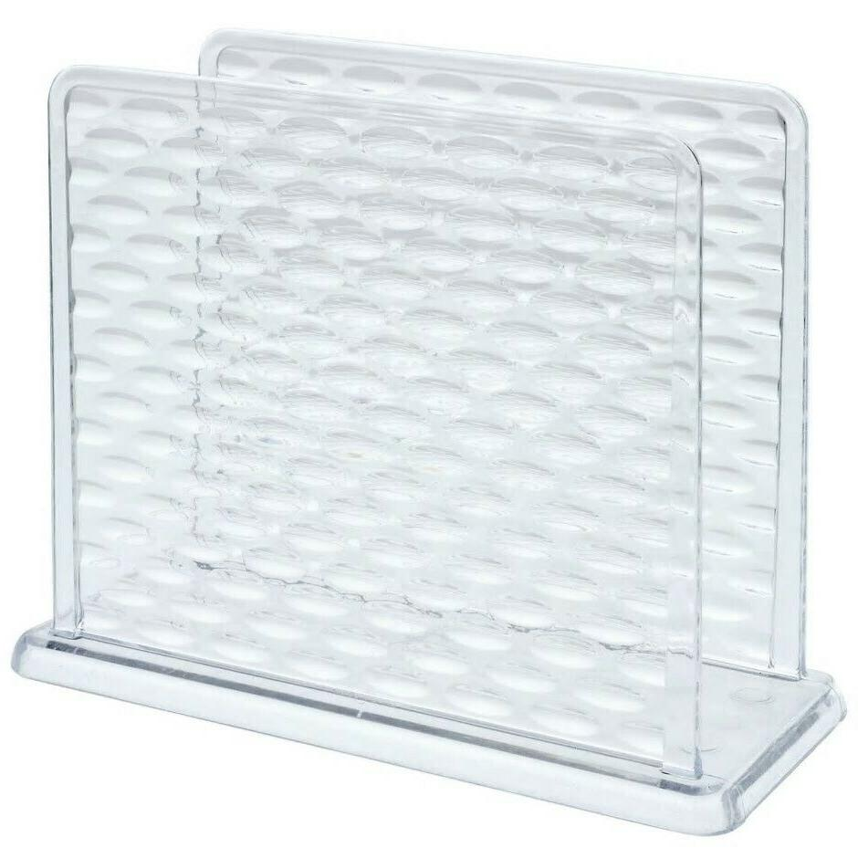 textured plastic napkin holder clear