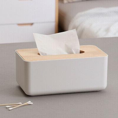 Tissue Box Holder Paper Cover Storage Case Napkin Container Home