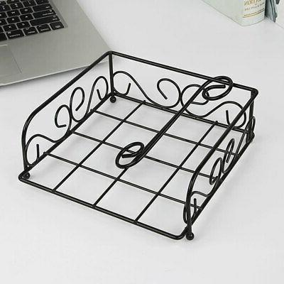 Tissue Holder Decorative Napkin Paper Modern Metal Structure