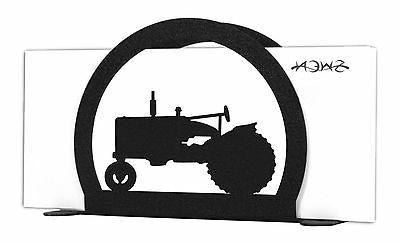 SWEN Products TRACTOR FARMALL Black Metal Letter Napkin Card