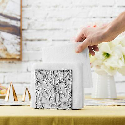 MyGift Tree Silhouette Silver-Tone Holder