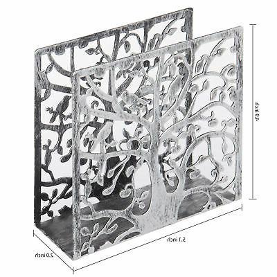 MyGift & Silhouette Silver-Tone Metal Holder