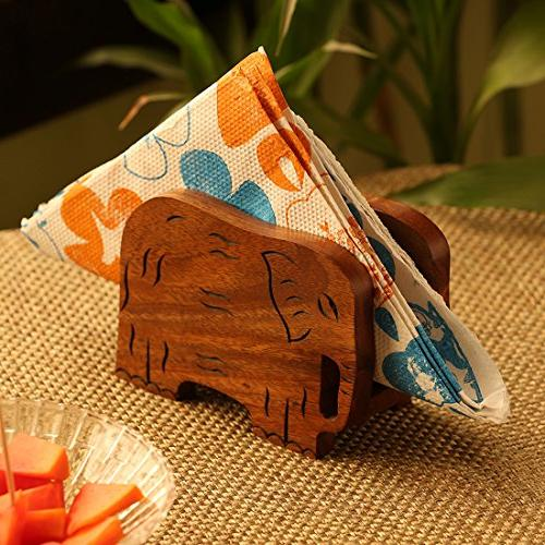 trunk down hand carved napkin